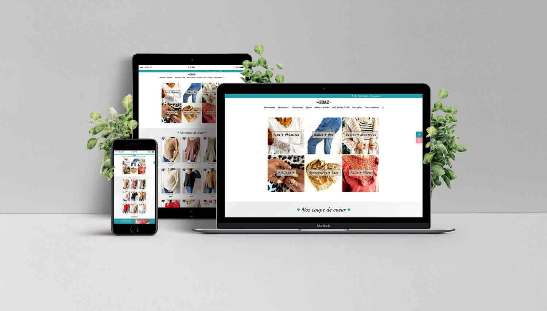 création d'un site ecommerce zoaz store