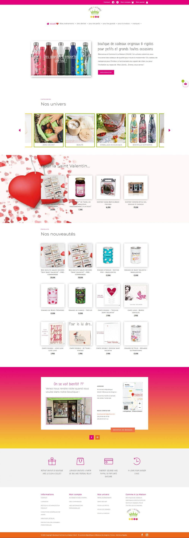 page accueil site web Comme A La Maison